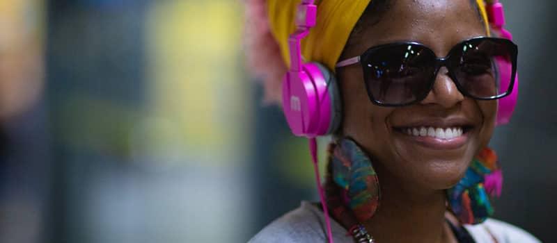 Headphones make the music better