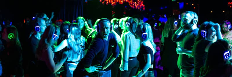 Traditional silent disco